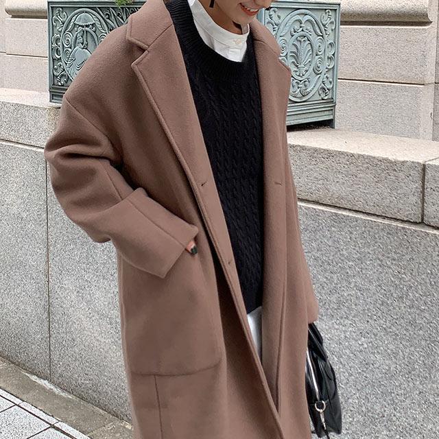 ≪店内全品ポイント7倍!!≫double button overcoat[975K]