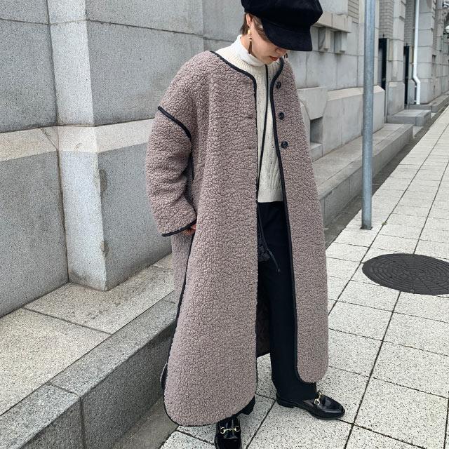 【11/29(sun)19:00〜】boa piping long coat[977K]