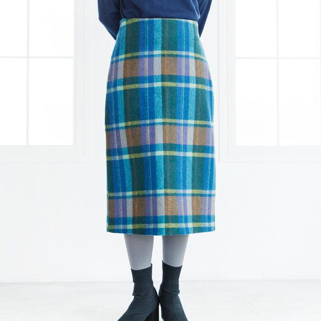 **rinko select**madras check tight skirt[980M]