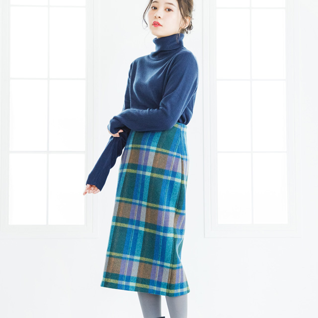 ≪村田倫子Select≫マドラスチェックタイトスカート(全2色)[980M]