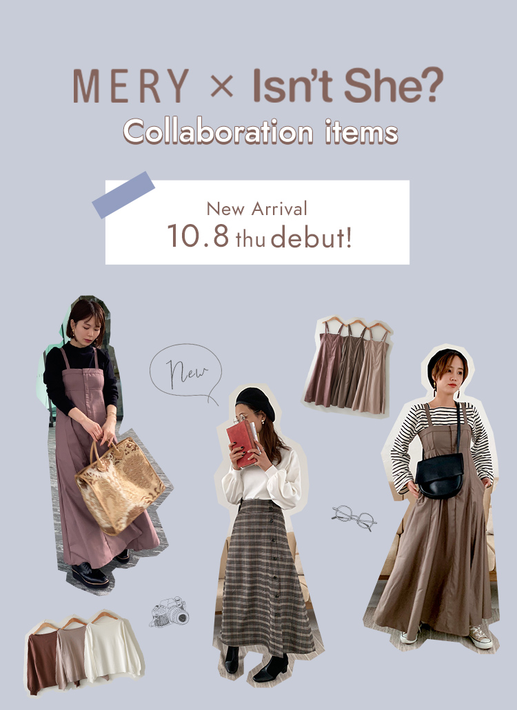 MERY × Isn't She? Collaboration items